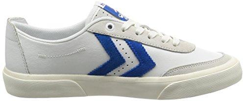 Baskets mixte - HUMMEL - Blanc - H64431-2001 - Millim Bleu/gris/éléments réfléchissants