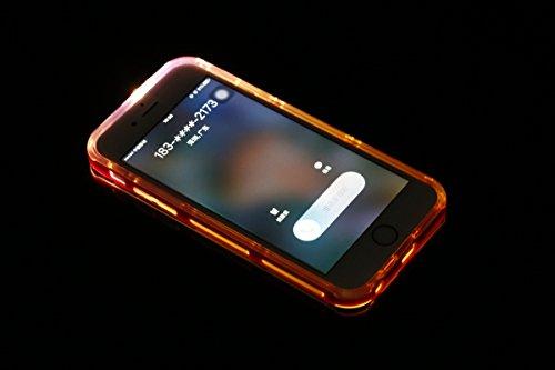 Ukayfe Custodia UltraSlim per iPhone 6 6S 4.7 ,iPhone 6 6S 4.7 Cover Case Morbida Soft Trasparente e Cristallo Protettiva Custodia con Marche Popolari Confine Resistente ai Graffi Anti Scivolo Case in Rosso 1#