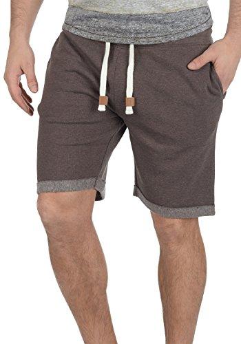 INDICODE Rion Herren Sweat-Shorts kurze Hose Sport-Shorts aus hochwertiger Baumwollmischung Dark Brown