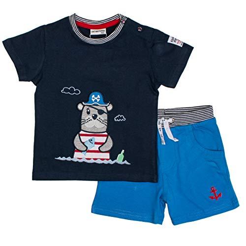SALT AND PEPPER Baby-Jungen Set Piraten Robbe Uni Bekleidungsset, Blau (Classic Strong Blue 486-465), 92