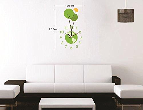 Syga Royal Earth Theme Wall Clock Sticker (Vinyl, 30 cm x 19.99 cm x 5 cm)