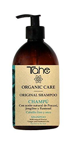 Tahe - Organic Care Champú Original para Cabello Fino y Seco con Aceite Natural de Pracaxí, Jengibre y Pantenol, 500 ml