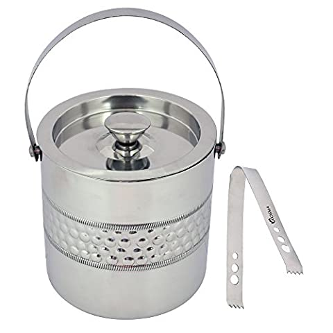 Kosma Designer Double Wall Stainless Steel Ice Bucket with Ice