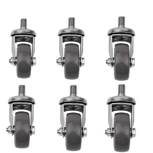 Drehbraten Universal Casters stumme Stuhl-Rad-Friseurstuhl Stuhl Kastler nicht um das Rad gewickelt (6 Stück)