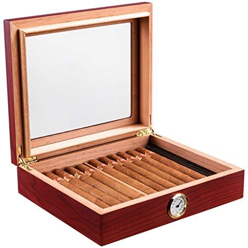 10-15 Cigar Desktop Humidor, Zedern-Humidor mit Glasplatte und digitalem Front-Hygrometer, Luftbefeuchterlösung, wasserdichter Zigarren-Humidor-Koffer für die Reise, tragbares, leichtes Geschenkset fü (10 Humidor)