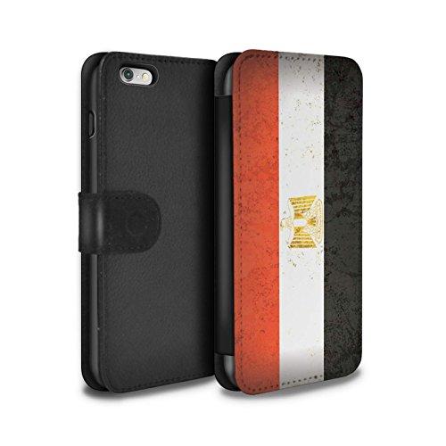 STUFF4 PU-Leder Hülle/Case/Tasche/Cover für Apple iPhone 6 / Südafrika Muster / Afrika Flagge Kollektion Ägypten/Ägypter