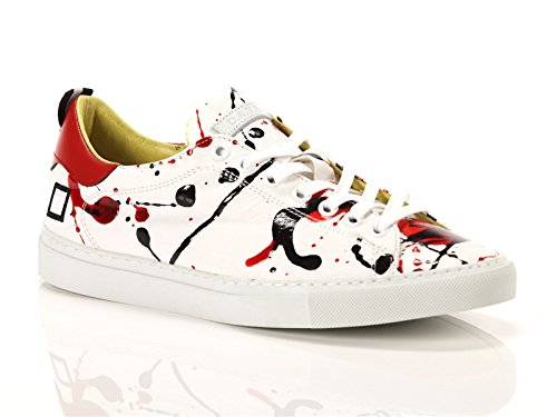 Date, Donna, Ace Pollock Red, Pelle, Sneakers, Bianco, 40 EU
