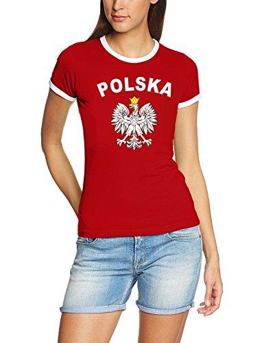Polen T-Shirt Damen rot, Gr.S