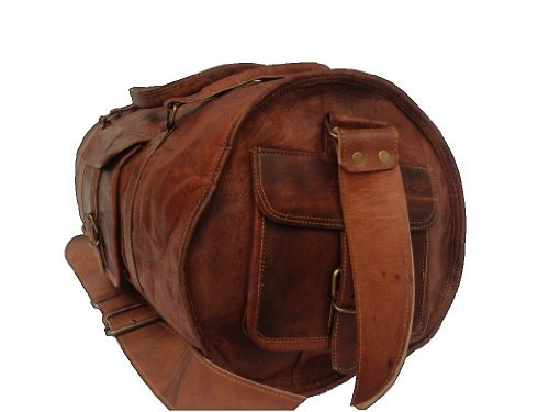 "True Grit Leather- ""New Age"" Vintage Marrone da uomo in pelle borsone borsa da viaggio bagagli Valigia (21 pollici) marrone Brown 46 cm"