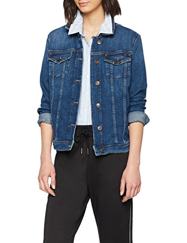Tommy Jeans Damen Jeansjacke TJW Vivianne Slim Trucker Jacket, Blau (Denver Dark Blue Comfort 911), Small