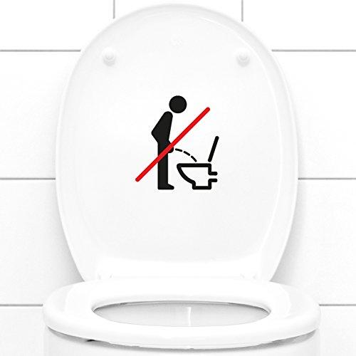 Grandora W733 WC Aufkleber Piktogramm im Sitzen pinkeln silbergrau