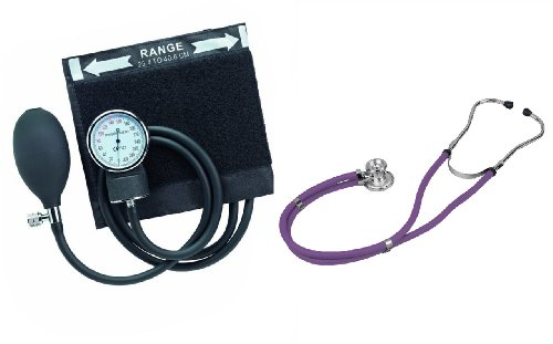 Set Tensiomètre Manuel et Stéthoscope de type Sprague Rappaport (violet)