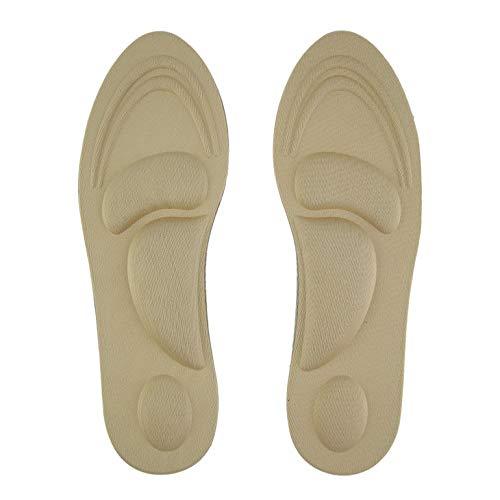 1 paire de soutien de voûte plantaire orthèses de soins de massage des pieds à talons hauts tampons de chaussures souples
