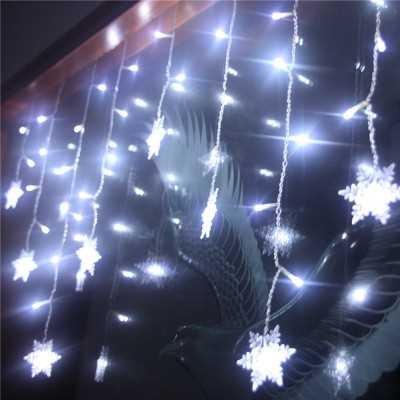 Die Weihnachtsbeleuchtung angeordnete LED-Leuchten blinken leichter Schnee kreative Outdoor wasserdicht Schnee Eis Licht Lampe, 1 Meter hoch, 6 Meter breit weiß (Kommerzielle Led-weihnachtsbeleuchtung)