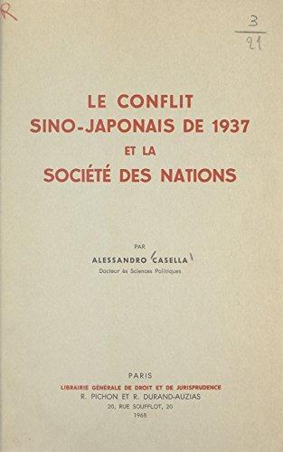 Le conflit sino-japonais de 1937 et la Société Des Nations