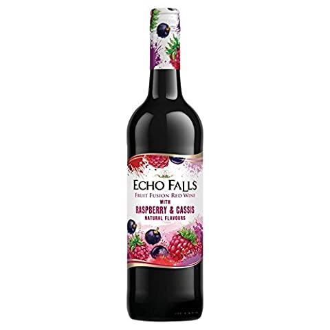 Echo Falls Fruits Raspberry & Cassis 75cl - (Pack of 2)