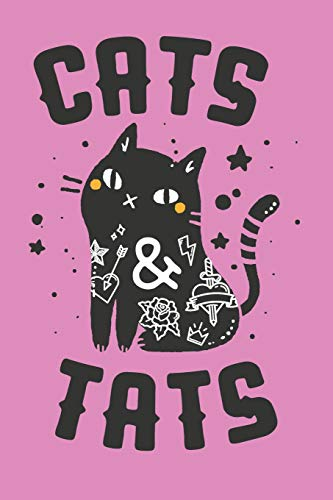 Cats & Tats: Black Cat Journal, Tattoo Notebook, Cat Journal for Women, Cute Funny Kitty for Bullet Journaling, Lined Blank 6x9 Halloween Tattooed Girl Gift Book (Black Cat Halloween Tattoo)
