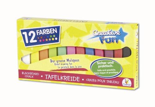 VEDES Großhandel GmbH - Ware creathek Tableau Craie, Multicolore, Lot de 12