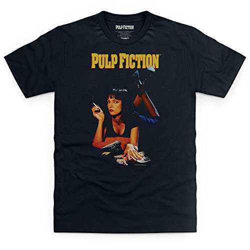 Official Pulp Fiction T-Shirt, Herren, Schwarz, L