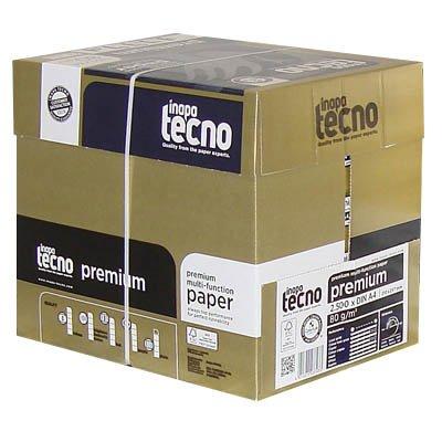 Inapa Tecno–– Box Maxi Copy von hoher Qualität, Papier weiß A480g/m², 2.500Blatt (Papier Weiß Copy)