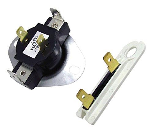 Edgewater Teile 3387134& 3392519Radfahren Thermostat & Thermo-Sicherung für Whirlpool und Kenmore Trockner - 4-draht-thermostat