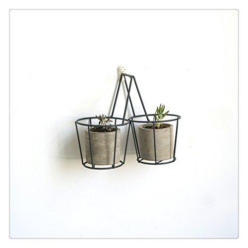 Stile nordico in ferro pianta/decor supporto per 2-flower pot