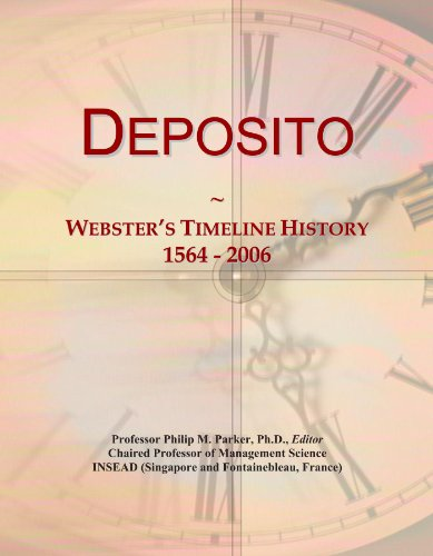 Deposito: Webster's Timeline History, 1564 -