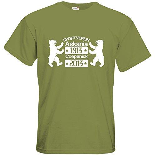 getshirts - Kleiderbox Coepenicker Sportverein - T-Shirt - Askania 100jahre Baeren Green Moss