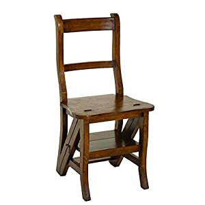 Chaise libraire en mindi, 44 x 47 x 90 cm -PEGANE-
