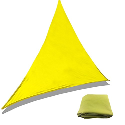 SunniY Toldo Impermeable Triangular, protección Solar, Resistente a la Intemperie, Transpirable, Sombra dispensador de protección UV para jardín, terraza, Camping