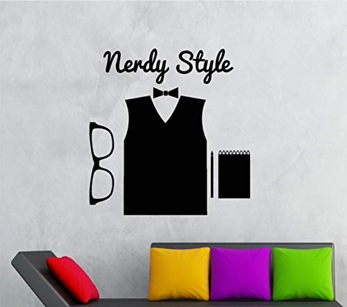 Xbwy Wandaufkleber Vinyl Aufkleber Hipster Nerdy Style High Fashion Brille 60X70Cm