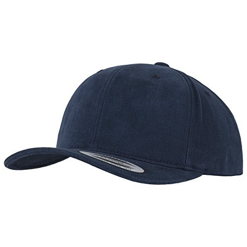 Flexfit Cap Brushed Cotton Twill Mid Profile blue navy Size:One size by Flex fit (Cotton Flex-fit Cap Twill)