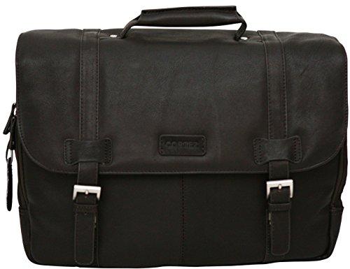 Cortez - Aktentasche aus kolumbianischem Leder - Schultertasche für Laptops bis 15,6 Zoll - Cognac Braun