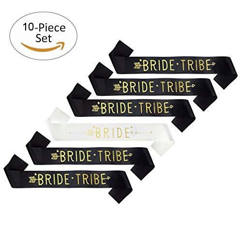Skaine 9 unids Tribe novia Fajas con 1 unid Bride Sash Hen Do accesorios nupciales de la ducha para...