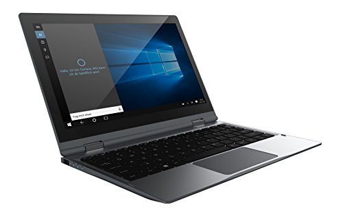 Odys Vario Pro 12 29,5 cm (11,6 Zoll HD) Convertible Tablet-PC (Intel Atom Quadcore x5-Z8350, 2GB DDR III L RAM, 32GB Flash HDD, Win 10) titangrau