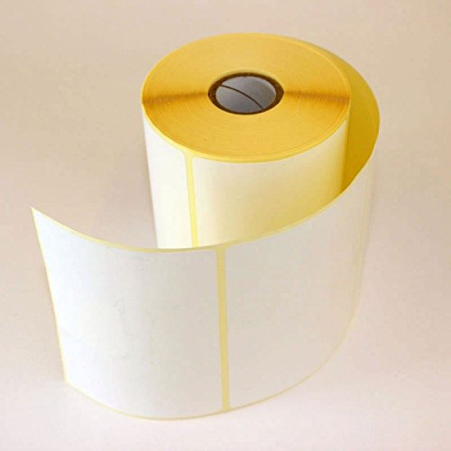 5 x ROLLS OF THERMAL LABELS 100MM x 150MM (6 x 4) PLAIN WHITE LABELS -