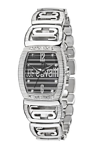 Just Cavalli - R7253171525 - Plain - Ladies Watch - Analogue Quartz - Black Dial - Silver Metal Strap