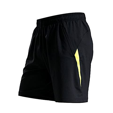 Hommes Course Jaune Citron Et Entraînement Courte Mèche l'Humidité 100 % Polyester XL