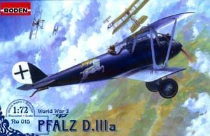 Roden Pfalz D.IIIa German Biplane Fighter Airplane Model Kit by Roden
