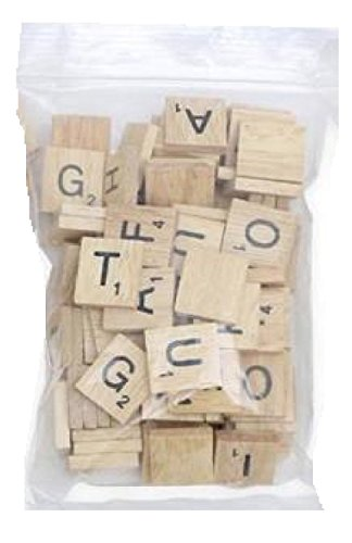 Image of 200 x Quality Wooden Scrabble Tiles Craft Jewellery Making Complete Set by Lizzy®