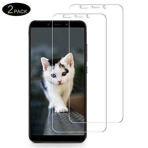 DOSMUNG [2 Pack Vetro Temperato per Xiaomi Mi A2, Pellicola Vetro per Xiaomi Mi A2 [9H Durezza] [3D Touch] [Alta Definizione] [Senza Bolle] [Facile da installare] Xiaomi Mi A2 Pellicola Protettiva