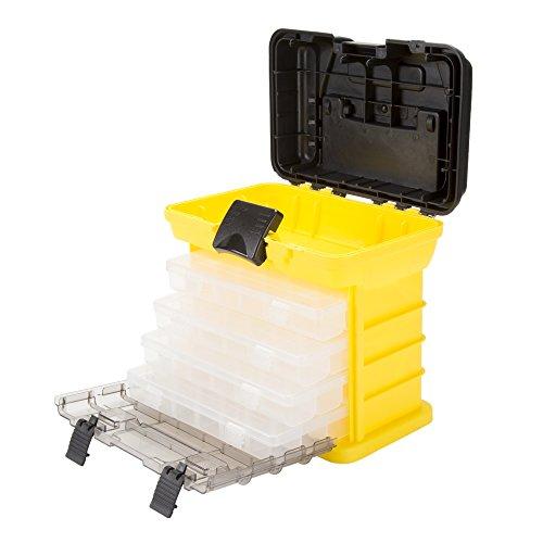 Stalwart Parts & Crafts Rack Style Tool Box with 4 Organizers, 75-STO3182 (Organizer-tool-box)