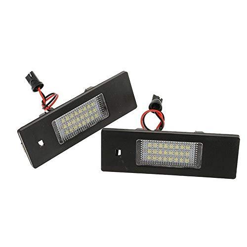Hengyuanyi Lampe LED pour Plaque d'immatriculation avec 2 x 24 LED Support BMW Z4 E63 E64 E81 E85 E87 650i M6 sans Erreur