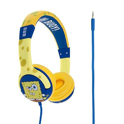 Spongebob SB0109 - Auriculares de diadema cerrados junior con función de seguridad...
