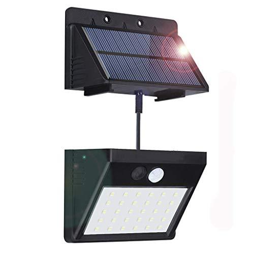 Solarleuchte für Außen [Trennbarer Solarpanel]BILLION DUO 30LED Solarlampe mit Bewegungsmelder,3 Modi Solarleuchte Für Drinnen/Draußen,IP65 Sicherheitswandleuchte f.Garten,Flur,Hof[Energieklasse A+]