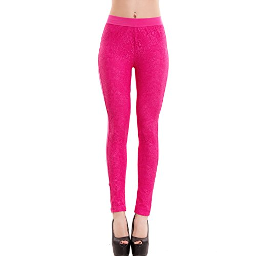 Toocool-Pantaloni-donna-leggings-pizzo-skinny-slim-colorati-elasticizzati-nuovi-F9210