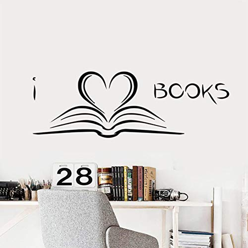 Zoom IMG-2 simple books wall sticker studio