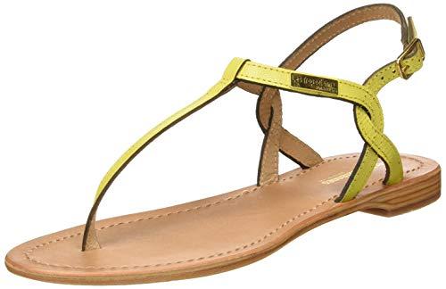 Sandalias amarillas con Correa de Tobillo para Mujer