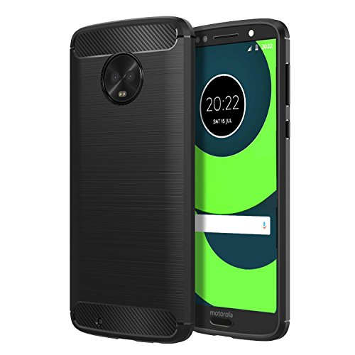 {Prime Day Lightning Deal} REALIKE® Moto G6 Back Cover, Branded Case with Ultimate Protection, Flexible Carbon Fiber Back Cover for...