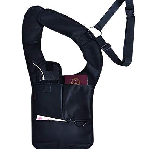 Anti-Diebstahl-Schulter Außenbereich, Unterarm-Rucksack, versteckte Taktische Tasche, tragbare Sicherheitstasche, Reisepass, Handys, Tablets, Taschenlampen-Halterung für Reisen und H -